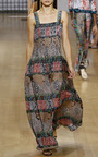 Sleeveless Square Neck Paisley Gown by OSCAR DE LA RENTA for Preorder on Moda Operandi