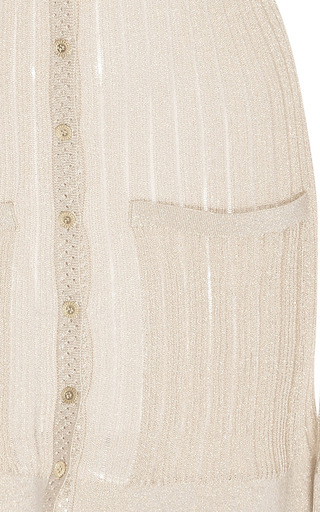 Long Sleeve Cardigan by OSCAR DE LA RENTA for Preorder on Moda Operandi