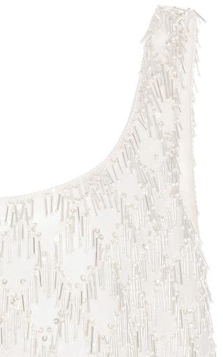 Sleeveless Bubble Bead Fringe Top by OSCAR DE LA RENTA for Preorder on Moda Operandi