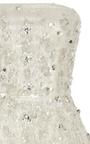 Strapless Lamé And Sequin Cocktail Dress by OSCAR DE LA RENTA for Preorder on Moda Operandi