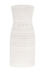 Strapless Lace And Pearl Cocktail Dress by OSCAR DE LA RENTA for Preorder on Moda Operandi