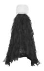 Strapless Pearl Embellished High Low Gown by OSCAR DE LA RENTA for Preorder on Moda Operandi