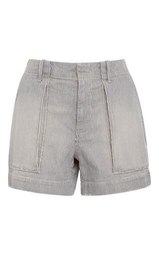 Medium nili lotan stripe enginner striped denim utility short