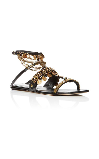 Medium oscar de la renta black runway sandal