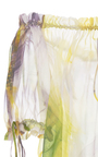 Off The Shoulder Draw String Floral Top by NAEEM KHAN for Preorder on Moda Operandi