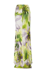 High Waist Floral Column Maxi Skirt by NAEEM KHAN for Preorder on Moda Operandi