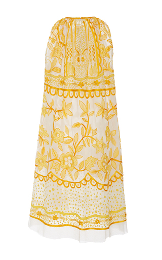 Sleeveless Contrasting Embroidered Mini Dress by NAEEM KHAN for Preorder on Moda Operandi
