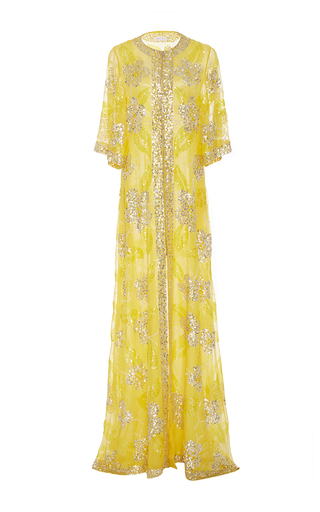 Metallic Sequin Embellished Sheath Gown by NAEEM KHAN for Preorder on Moda Operandi