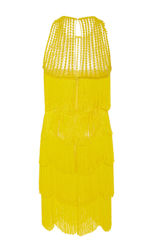 Sleeveless Flapper Fringe Mini Dress by NAEEM KHAN for Preorder on Moda Operandi