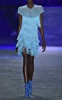 Short Sleeve Flapper Fringe Mini Dress by NAEEM KHAN for Preorder on Moda Operandi