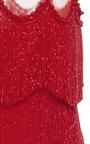 Sleeveless Flapper Fringe Mesh Neckline Mini Dress by NAEEM KHAN for Preorder on Moda Operandi