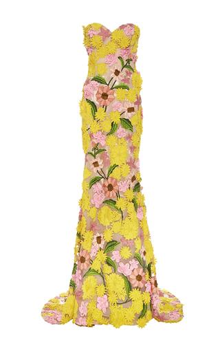 Medium naeem khan multi garden variety sweetheart neck gown