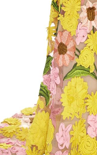 Garden Variety Sweetheart Neck Gown by NAEEM KHAN for Preorder on Moda Operandi