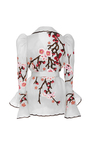 Cherry Blossom Puff Sleeve Jacket by NAEEM KHAN for Preorder on Moda Operandi