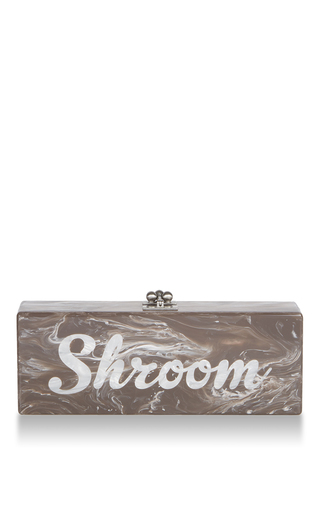 Medium edie parker brown flavia shroom clutch