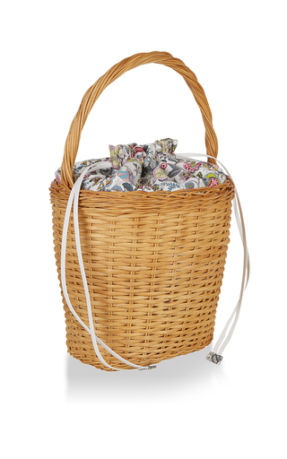 Lily Floral Basket Tote by EDIE PARKER for Preorder on Moda Operandi