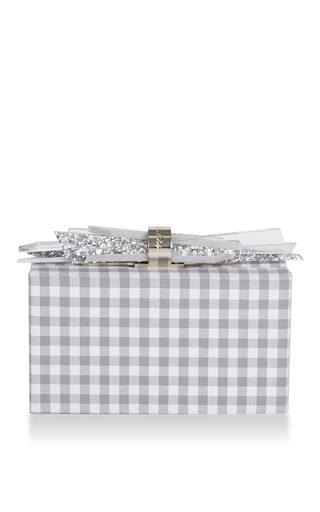 Wolf Gingham Clutch by EDIE PARKER for Preorder on Moda Operandi