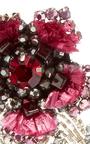 Pink Crystal Flower Earrings With Stems by RANJANA KHAN for Preorder on Moda Operandi