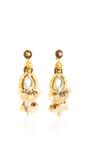White Tassel Earrings by RANJANA KHAN for Preorder on Moda Operandi