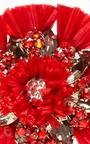 Red Flower Ran Earrings by RANJANA KHAN for Preorder on Moda Operandi
