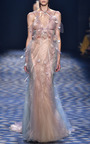 Fit And Flare Halter Neck Gown by MARCHESA for Preorder on Moda Operandi