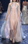 Halter Neck Draped Gown by MARCHESA for Preorder on Moda Operandi