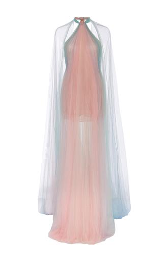 Medium marchesa multi halter neck draped gown