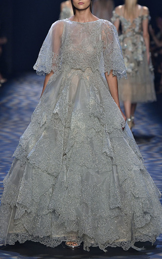 Multi Tiered Ball Gown by MARCHESA for Preorder on Moda Operandi