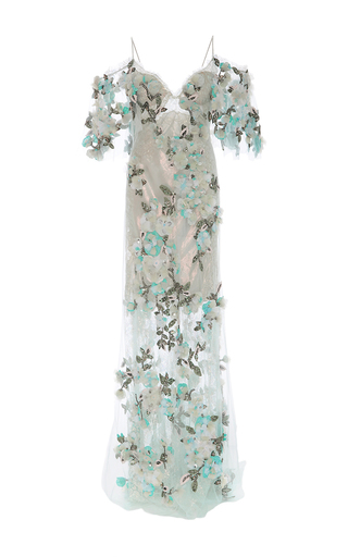 Medium marchesa multi floral embroidered beaded gown