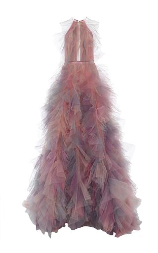 Medium marchesa multi halter neck a line ball gown