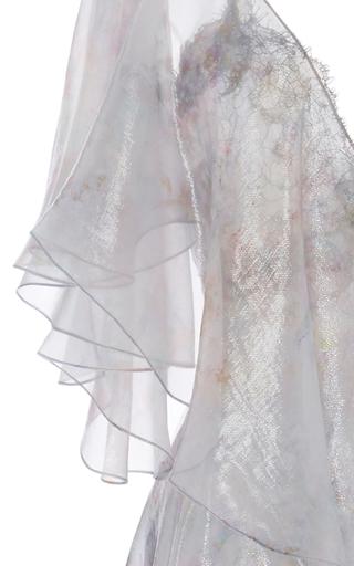 Lamé Organza Cocktail Dress by MARCHESA for Preorder on Moda Operandi