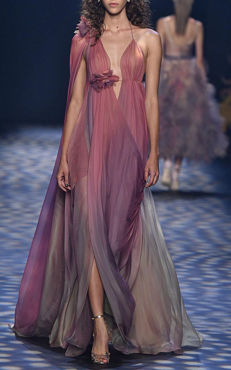 Ombré Grecian Gown by Marchesa | Moda Operandi