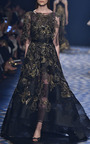 A Line Gown With Cape by MARCHESA for Preorder on Moda Operandi
