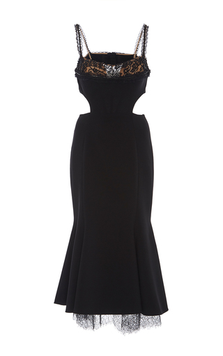 Medium marchesa black fit and flare cocktail dress