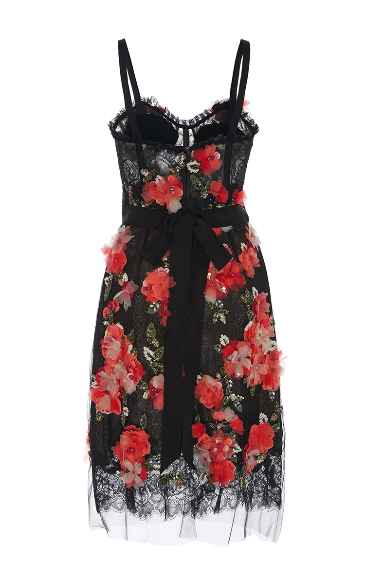 Floral embroidered cocktail dress by marchesa moda operandi
