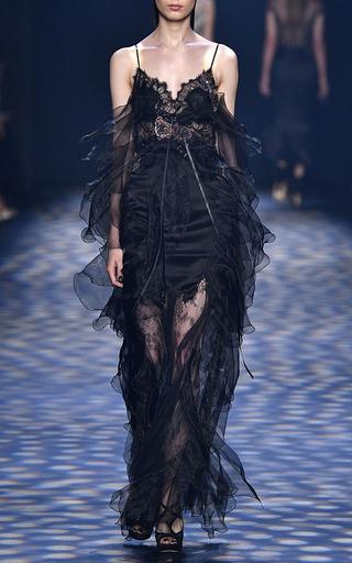 Spaghetti Strap Gown by MARCHESA for Preorder on Moda Operandi