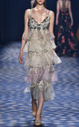 Ankle Length Tiered Column Gown by MARCHESA for Preorder on Moda Operandi