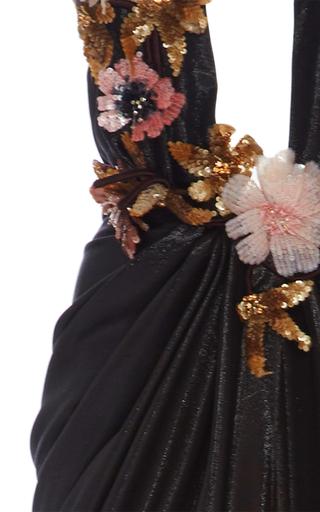 Plunging Neckline Grecian Gown by MARCHESA for Preorder on Moda Operandi