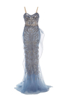 Draped Bodice Column Gown by MARCHESA for Preorder on Moda Operandi
