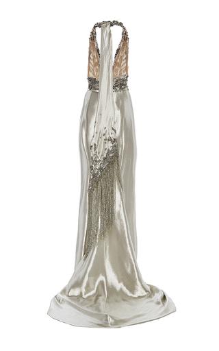 Halter Neck Colum Gown by MARCHESA for Preorder on Moda Operandi