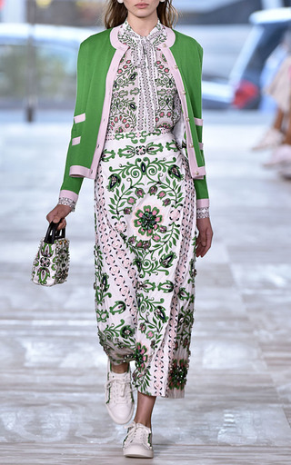 Maine A Line Emroidered Skirt by TORY BURCH for Preorder on Moda Operandi