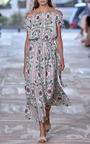 Asilomar Open Shoulder Printed Midi Dress by TORY BURCH for Preorder on Moda Operandi
