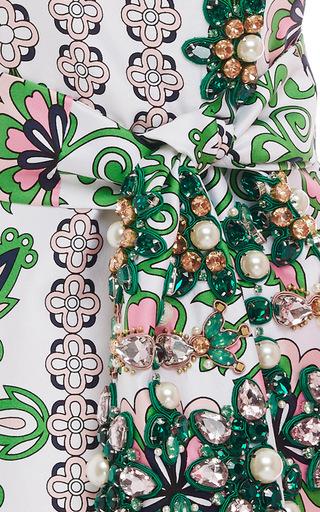 Jayda Embellished Tie Front Dress by TORY BURCH for Preorder on Moda Operandi