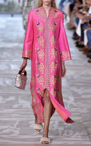 Meryl Embroidered Caftan by TORY BURCH for Preorder on Moda Operandi