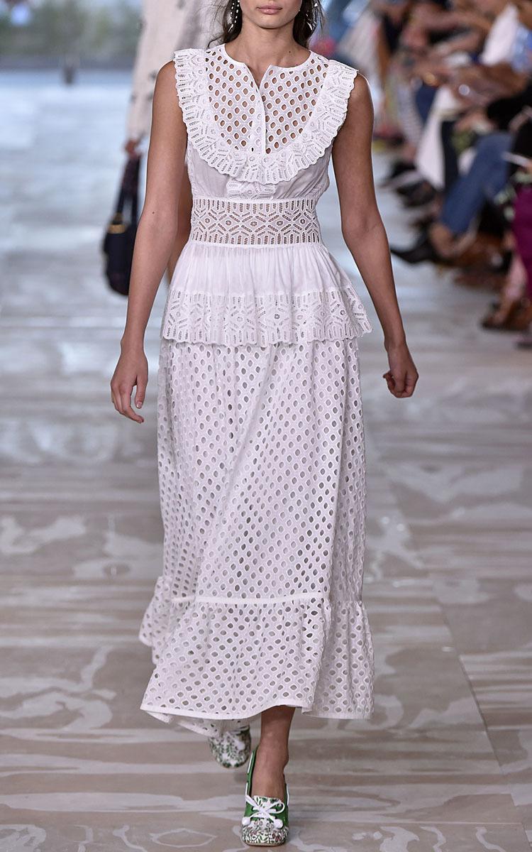 4327a9ce8d Eyelet Hermosa Midi Skirt by Tory Burch | Moda Operandi