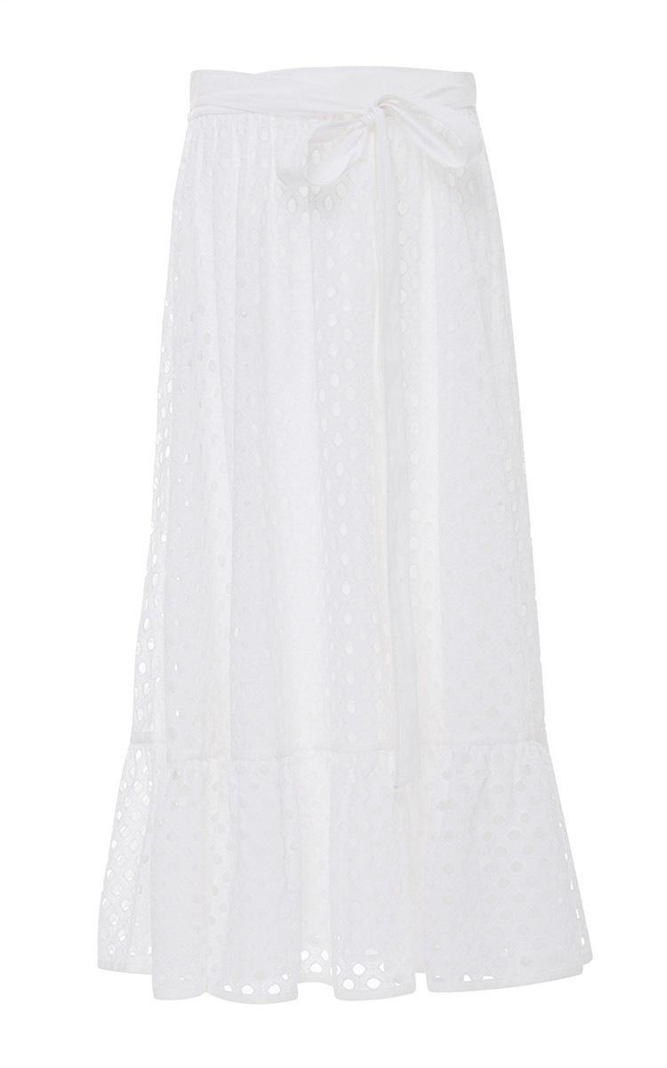 3c66720f5087 Eyelet Hermosa Midi Skirt by Tory Burch | Moda Operandi