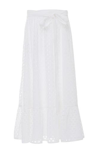 Medium tory burch white eyelet hermosa midi skirt