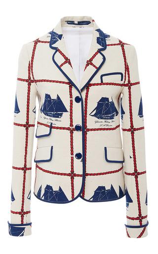 Medium tory burch white sail blazer