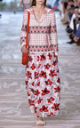 Barrington Floral Embroidered Maxi Skirt by TORY BURCH for Preorder on Moda Operandi