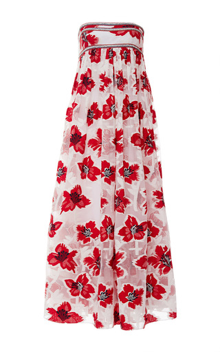Medium tory burch print barrington floral embroidered gown